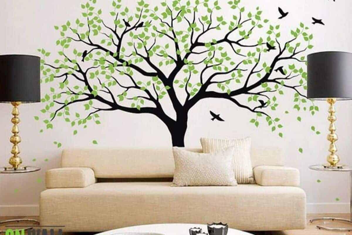 جدارية بعنصر الخشب - orchidfulifestyle