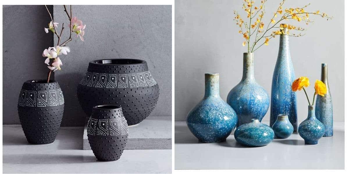 المزهريات الزرقاء و السوداء - Orchidfulifestyle