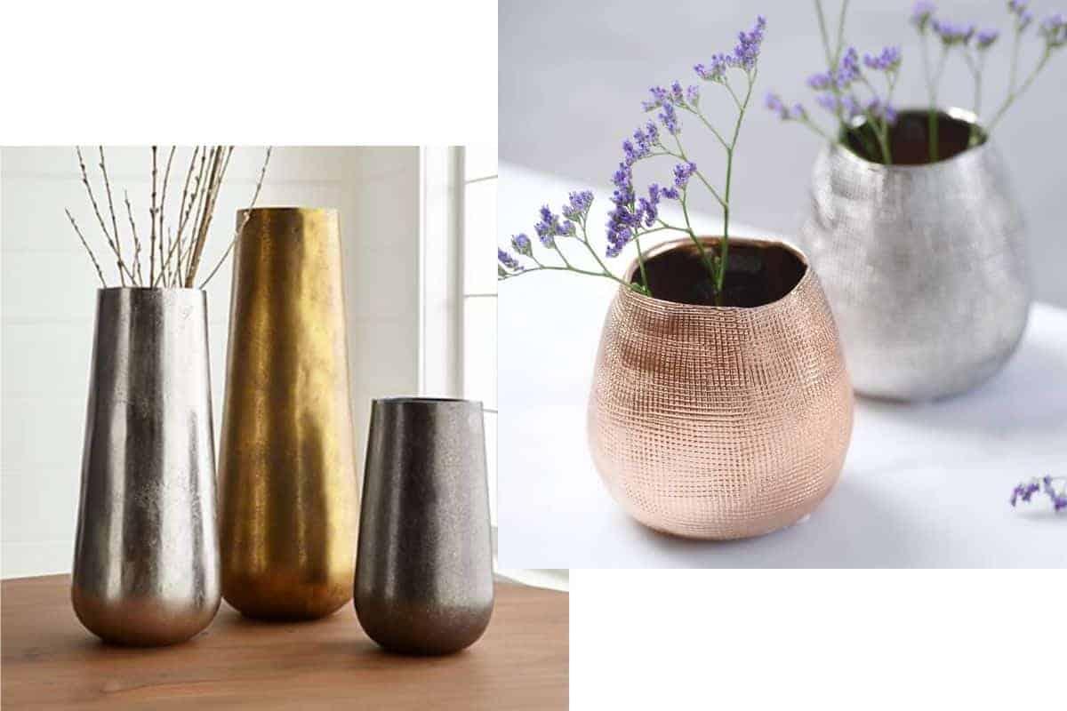 مزهرية معدنية - Orchidfulifestyle