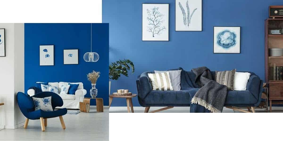 طلاء حائط أزرق - Orchidfulifestyle
