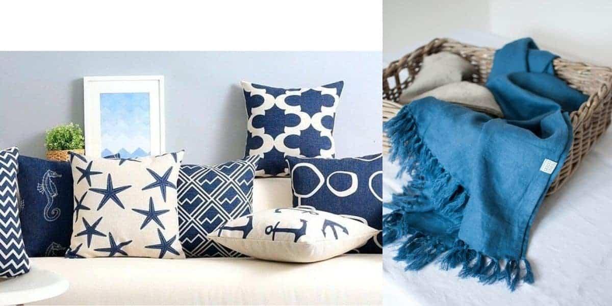 الوسائد الزرقاء و ملحقاتها - orchidfulifestyle