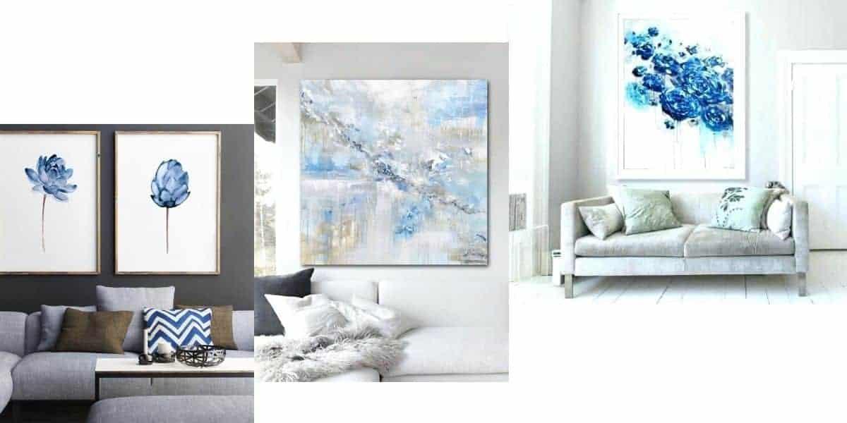 لوحات باللون الأزرق - orchidfulifestyle