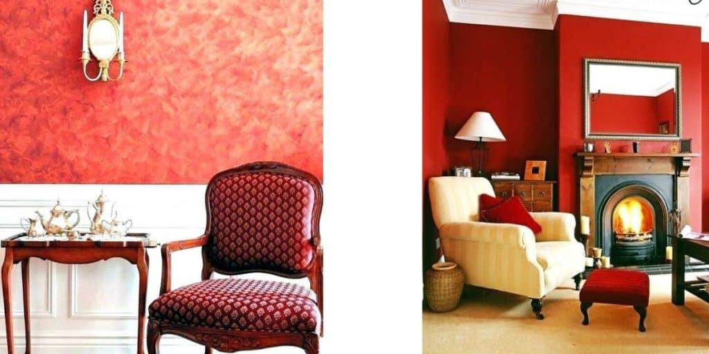 طلاء الجدران عنصر النار - orchidfulifestyle